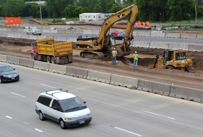 Photo of I-35E project in St. Paul.